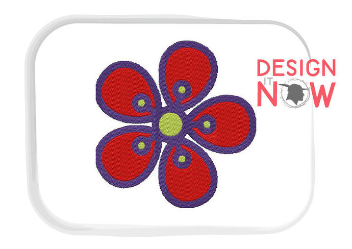 4 Designs - Flowers Machine Embroidery Design - 5 Sizes
