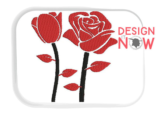 Roses Flower Machine Embroidery Design - 5 Sizes