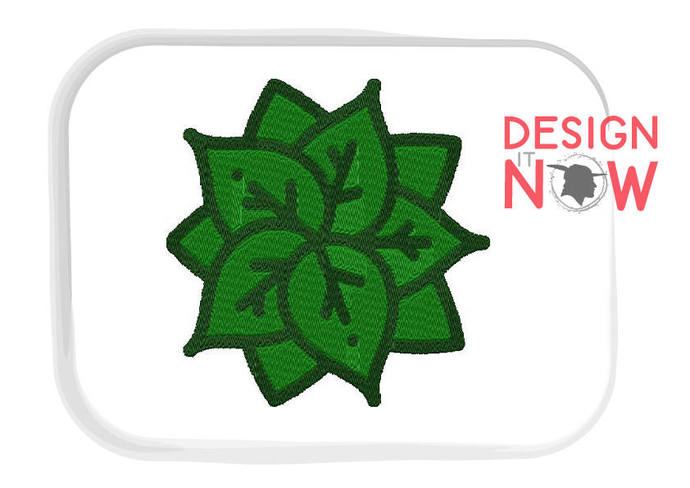 Christmas Plant Machine Embroidery Design - 5 Sizes