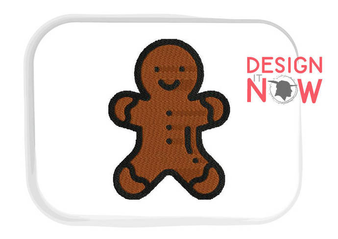 Christmas Gingerbread Man Machine Embroidery Design - 5 Sizes