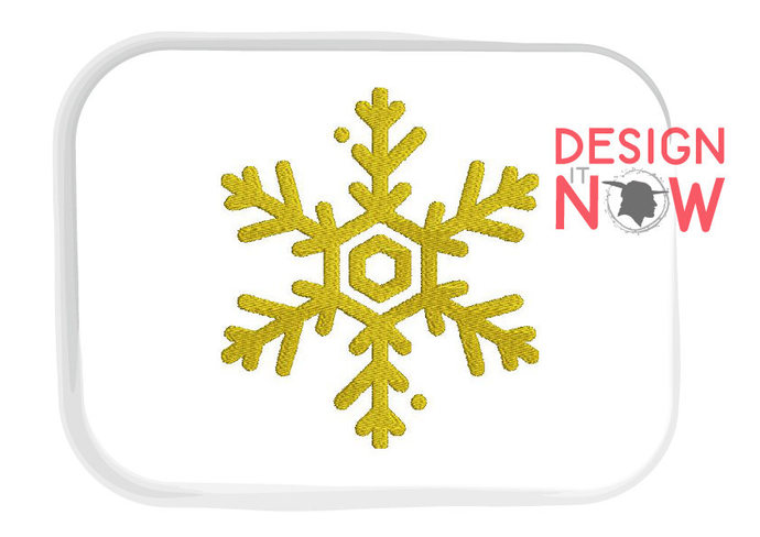Snowflake Machine Embroidery Design - 5 Sizes