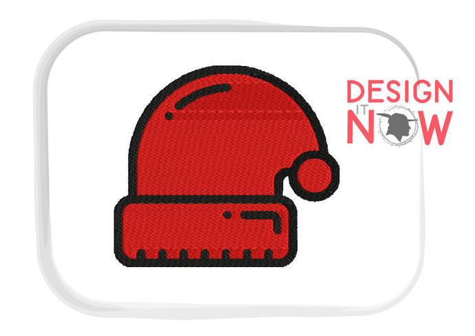 36a91f01c1b Christmas Santa Hat Machine Embroidery by DesignItNowLtd on Zibbet