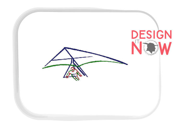 Hang Gliding Machine Embroidery Design