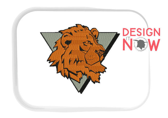 Mascot Lion Machine Embroidery Design