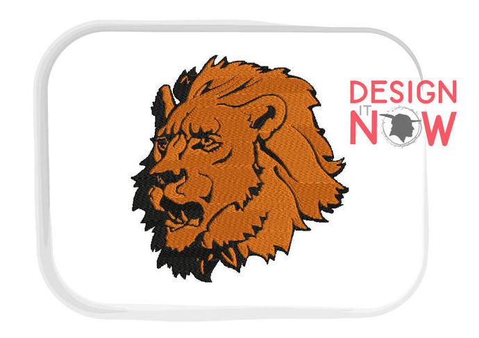 Mascot Lion Machine Embroidery Design