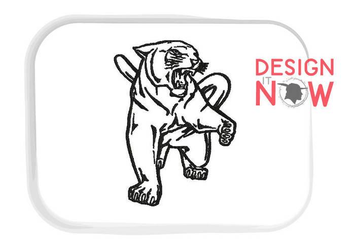 Mascot Puma Machine Embroidery Design