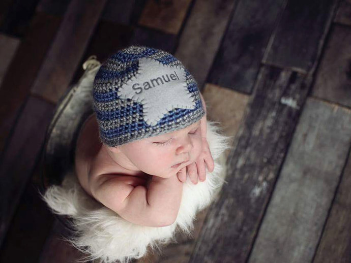 Baby Name Hat - Personalized Newborn Hat - Newborn Name Hat - Personalized  Baby 863c7fe5c0f