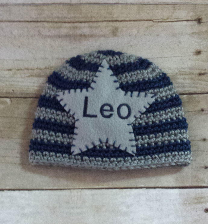 Baby Name Hat - Personalized Newborn Hat - Newborn Name Hat - Personalized Baby