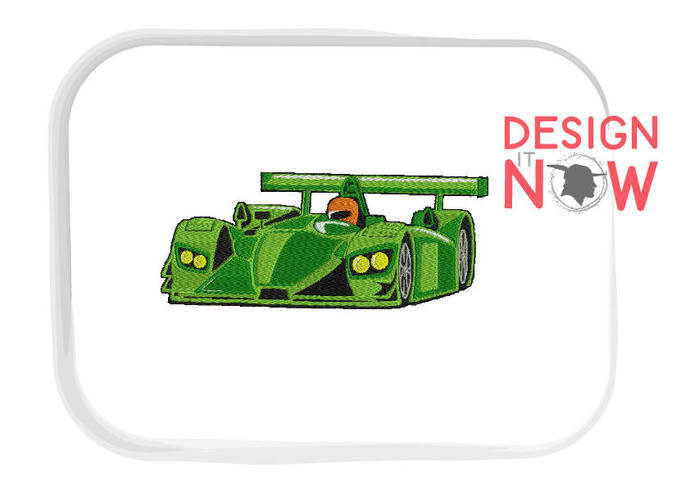 4 Designs - Auto Boat Racing Machine Embroidery Design