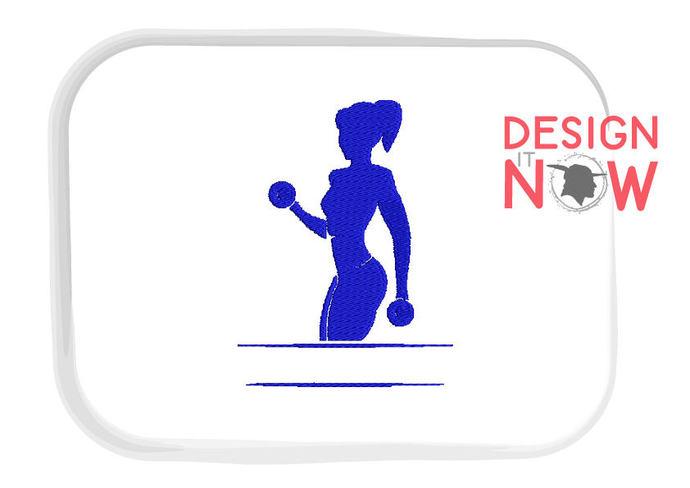 Woman Split Design Fitness Lady Silhouette By Designitnowltd On Zibbet