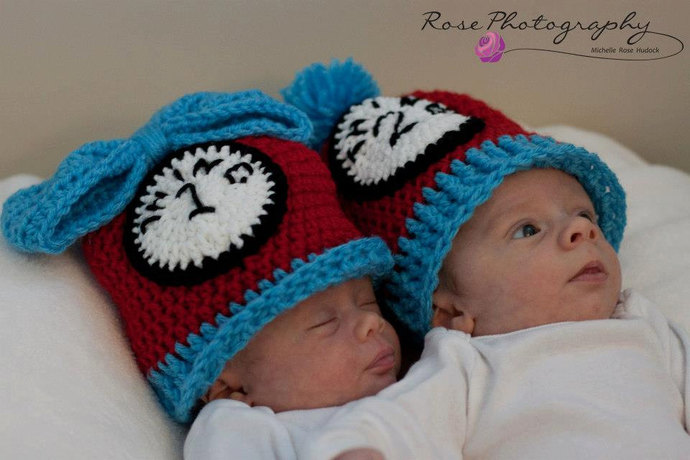 Thing Hats, Set of 2 (Sizes Newborn-12 months)
