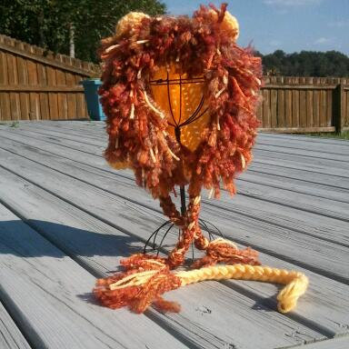 Lion's Mane Crochet Wig Hat with Matching Tail