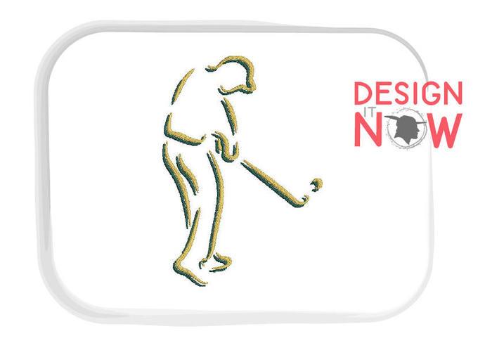 Golf Machine Embroidery Design One Size By Designitnowltd On Zibbet