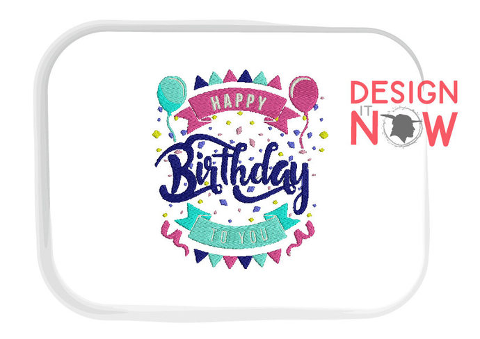 Happy Birthday Quote Celebration Machine Embroidery Design - One Size
