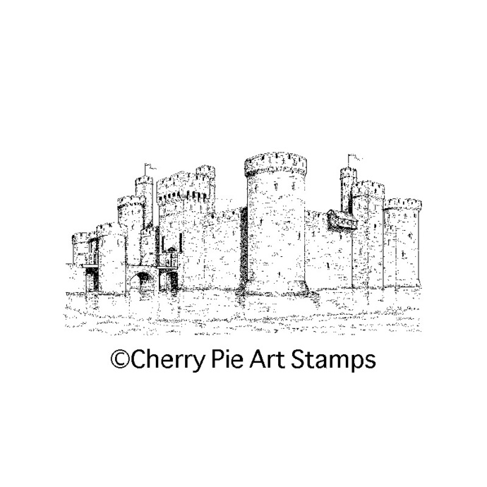 CASTLE - Medieval, Bodiam castle, England UK- CLING STAMP for Acrylic Block