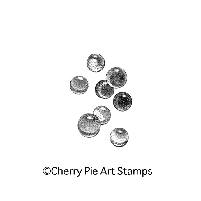 Crystal marbles small- CLING Rubber STAMP for acrylic block J309