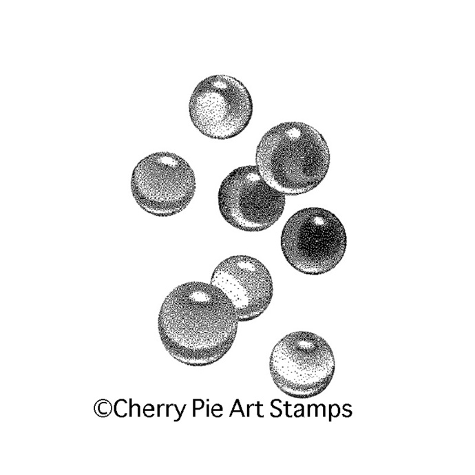 Crystal marbles large size- CLING RuBBer STAMP for acrylic block by Cherry Pie