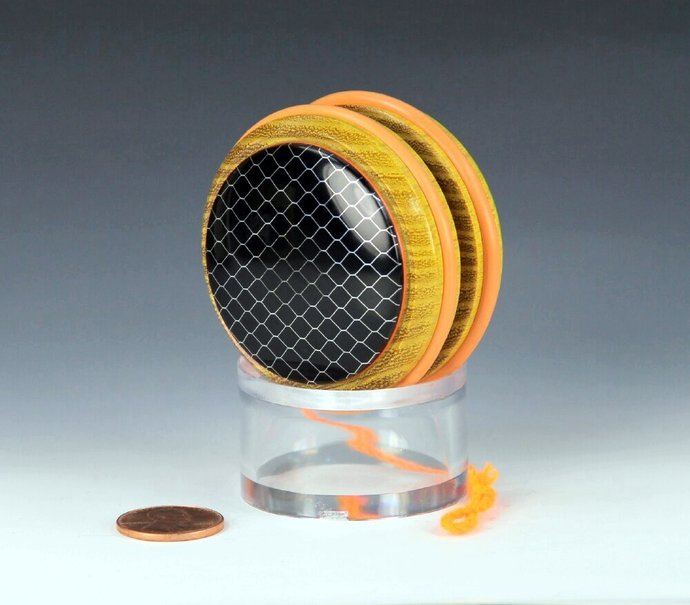 Handmade Toy YoYo, Fixed Axle Imperial, Osage Orange with Honeycomb-Mesh-Resin