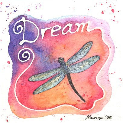Small DRAGONFLY - CLiNG Rubber STAMP for acrylic block by Cherry Pie D146