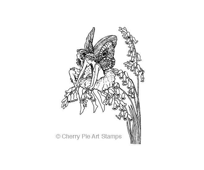 Foxglove FAIRIES - CLING RuBBer STAMP by Cherry Pie R528