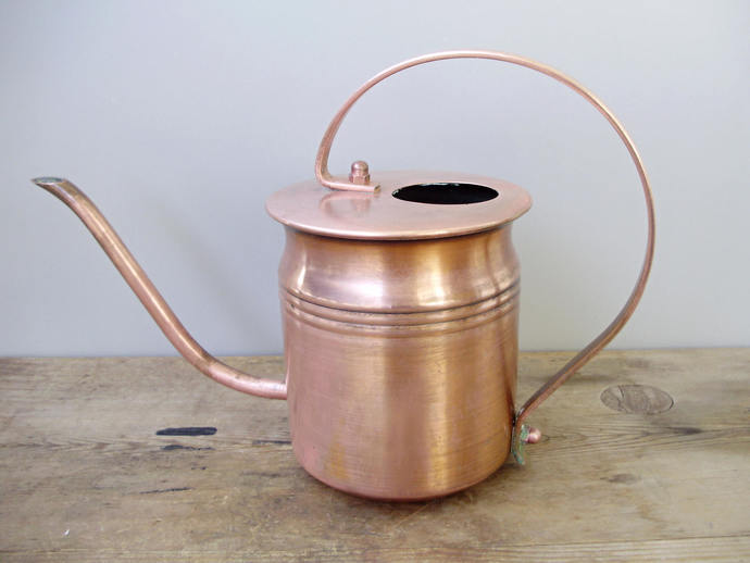 Vintage brass   watering pot/can,Modern Midcentury Home Decor