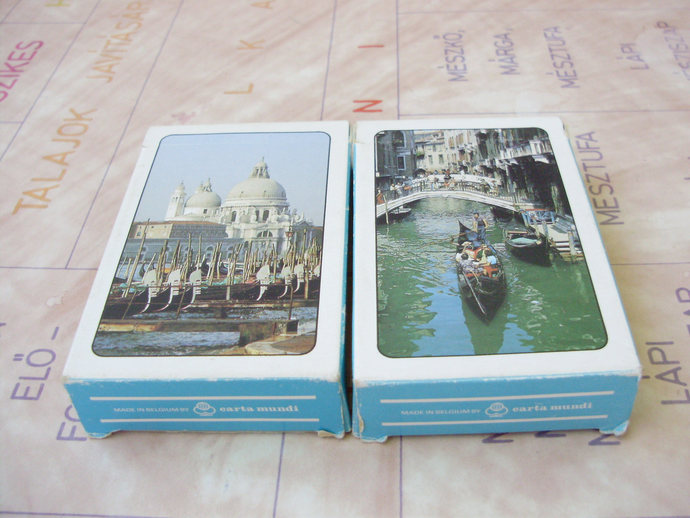 Vintage bridge cards,two decks,Playing Cards pictures from Venice