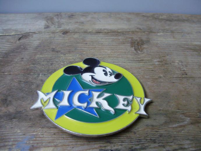 Vitage metal kid,child belt buckle Mickey mouse design