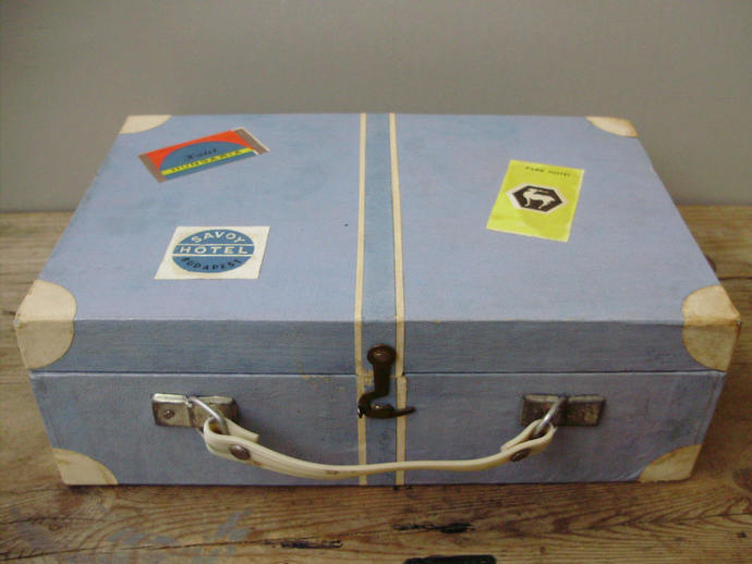 Rare Blue  Knitting box, sewing basket, sewing box, knitting box, organizer,