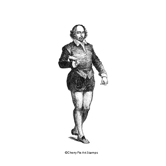 William SHAKESPEARE- CLING rubber STAMP by Cherry Pie R590