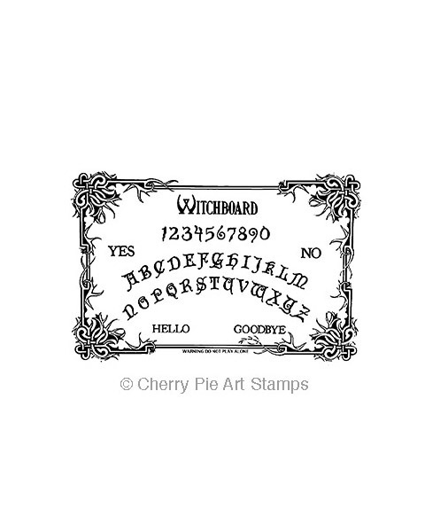 OuiJa board -Witch board CLING rubber STAMP by Cherry Pie Q528
