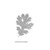 OaK LeaF- CLING RuBBer STAMP  by Cherry Pie E209