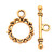 Round Toggle Clasp & Bar Circle Ring Bracelet Necklace Anklet Closure Jewelry