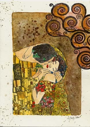 Small SWIRLS by Gustav KLIMT- spirals- CLiNG STaMP by Cherry Pie L333