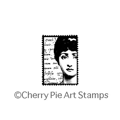 Woman face POSTOID- CLiNG RuBBer STaMP by Cherry Pie E177