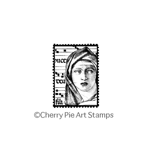 Delphic Sybil POSTOID- CLiNG RuBBer STaMP by Cherry Pie E193