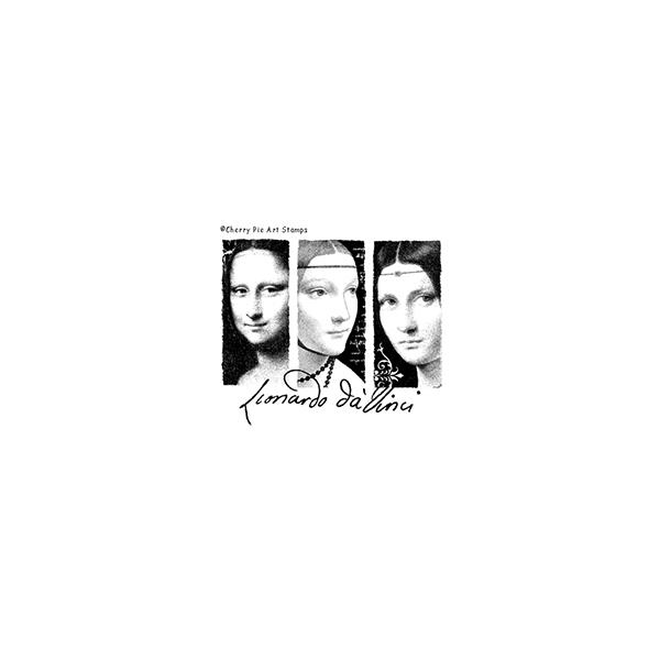 Leonardo da Vinci's women - CLiNG RuBBer STaMP by Cherry Pie P428