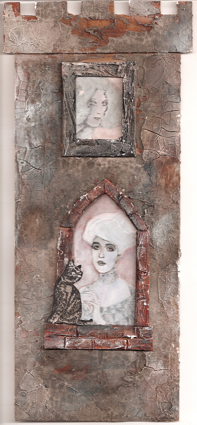 Adele by Gustav KLIMT - CLING rubber STAMP by Cherry Pie R520