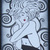 Lulu, art nouveau woman- CLiNG RuBBer STAMP by Cherry Pie R553