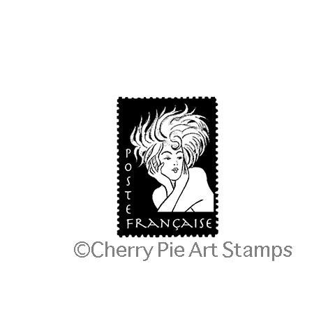 French Woman POSTOID- CLiNG RuBBer STaMP by Cherry Pie E205