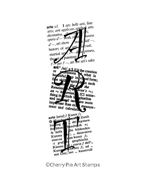 ART calligraphy - CLiNG Rubber STAMP by Cherry Pie R514