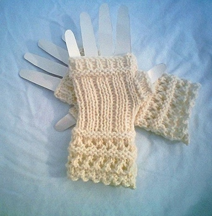 Open Lace Knit Crochet Fingerless Gloves By Carussdesignz On Zibbet