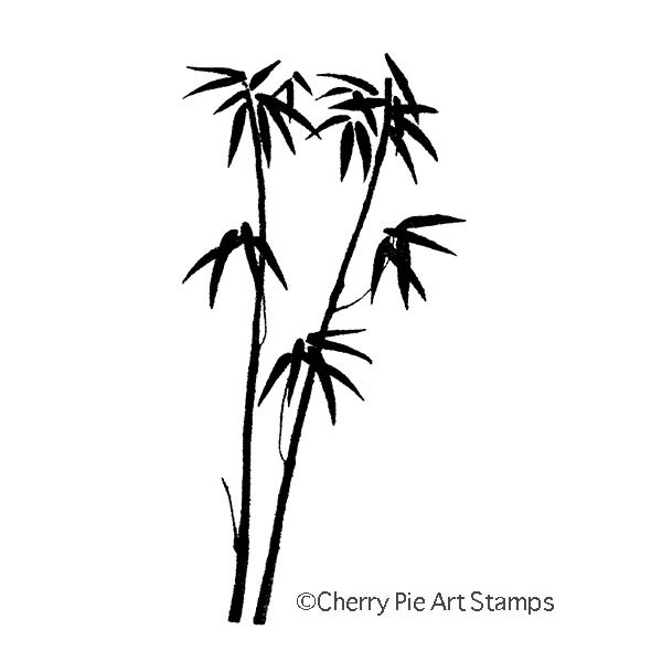 BAMBOO- CLING RuBBer STAMP  by Cherry Pie Q515