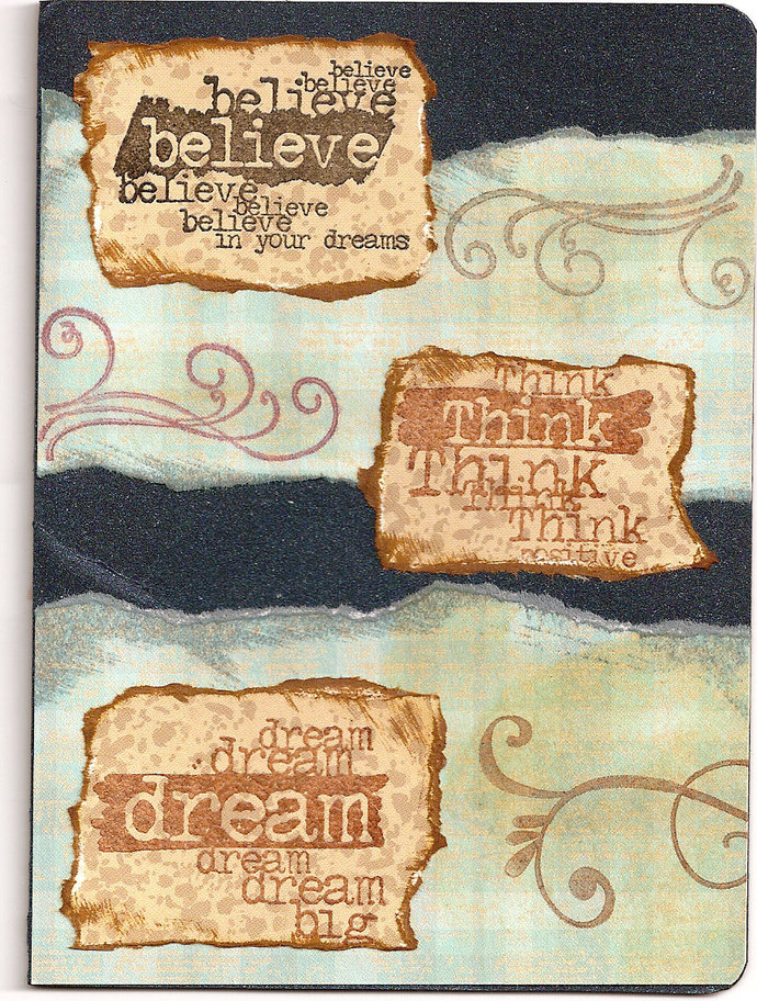 Believe in yourself - CLING STamP for acrylic block by Cherry Pie E214