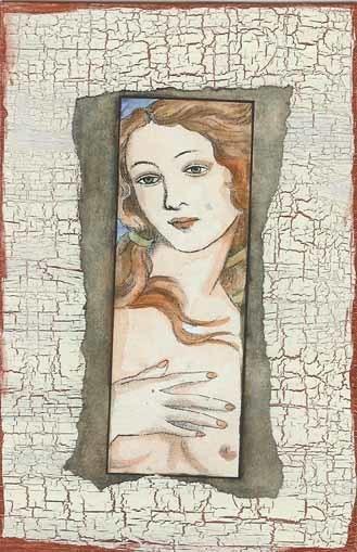 VENUS -Venere di Botticelli - CLiNG RuBBer STAMP by Cherry Pie S571