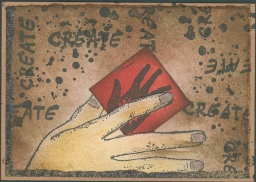 Venus hand -Venere di Botticelli - CLiNG RuBBer STAMP by Cherry Pie Q514