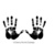 Hands imprints - 2 CLiNG RuBBer STAMPs by Cherry Pie J305