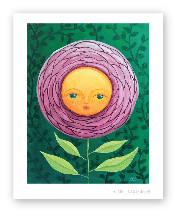 """Rose"" original painting by Sheila Lutringer"