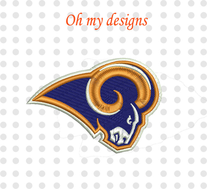 St Louis Rams Logo Machine Embroidery Design 5 By Ohmydesigns On