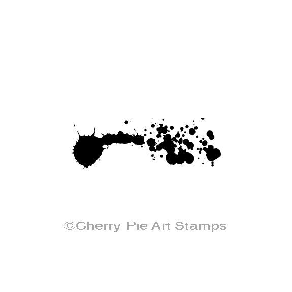 Ink splatter- CLiNG Rubber STAMP by Cherry Pie E182