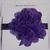 N186 Purple galaxy headband with purple dot flower - child size